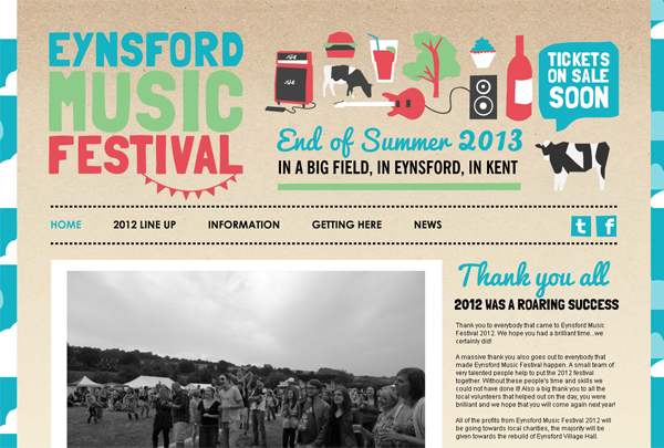 Eynsford Music Festival - Washed Out/ Pastel Web Inspiration