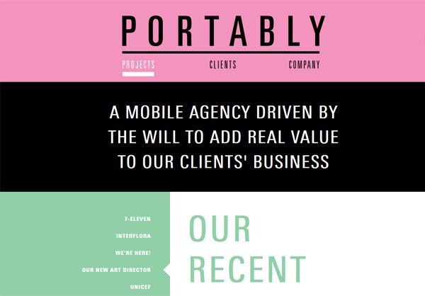 Portably - Washed-Out Color Schemes Web Inspiration