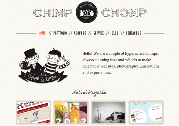 Chimp Chomp - Washed Out/ Pastel Web Inspiration