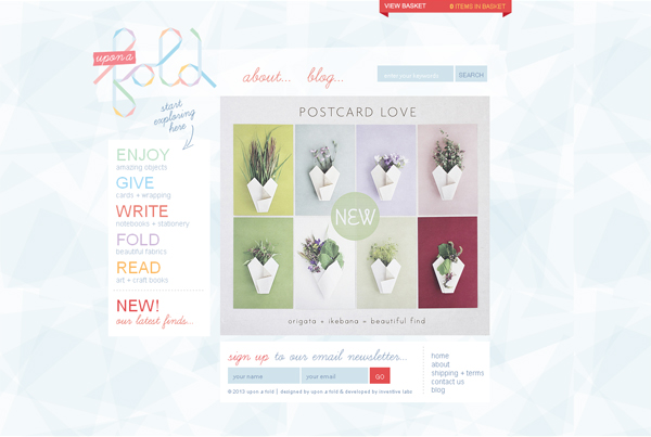 Upon a Fold - Washed Out/ Pastel Web Inspiration