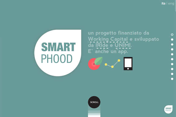 Smart Phood - Washed-Out Color Schemes Web Inspiration