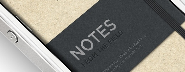 iPhone Notes Cover PSD - Web Design Freebies