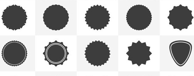 15 Custom Badges & Shield Photoshop Shapes - Web Design Freebies