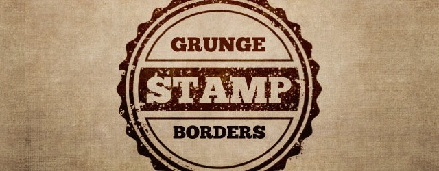 12 Grunge Stamp Borders & Textures Pack - Web Design Freebies
