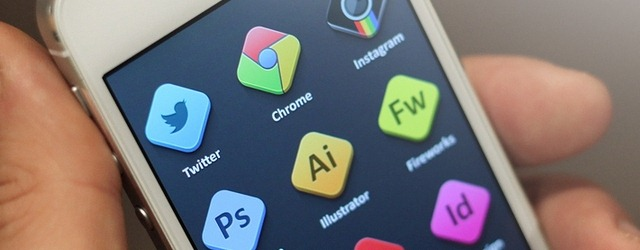 Rhombus-Shaped Adobe Icons - Web Design Freebies