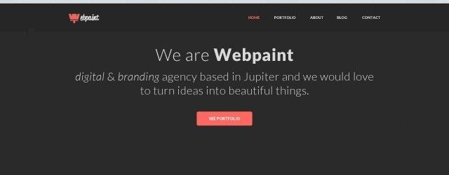 Webpaint Homepage - Web Design Freebies