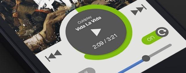 Spotify Flat UI - Web Design Freebies