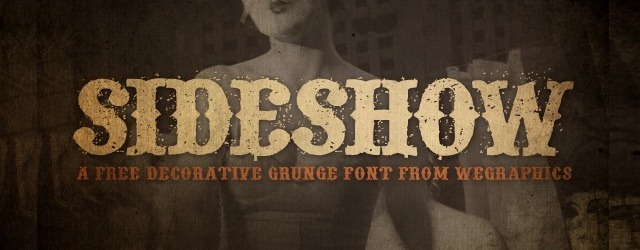 Sideshow - A Grunge Font - Web Design Freebies