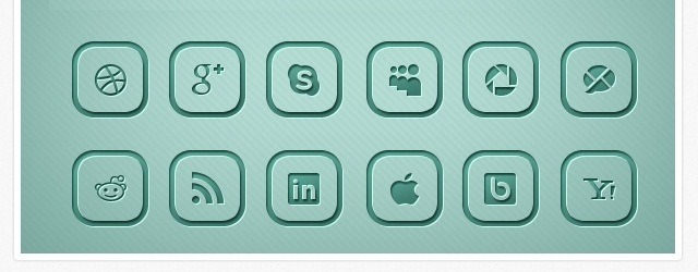 Rounded Social Media Icons - Web Design Freebies