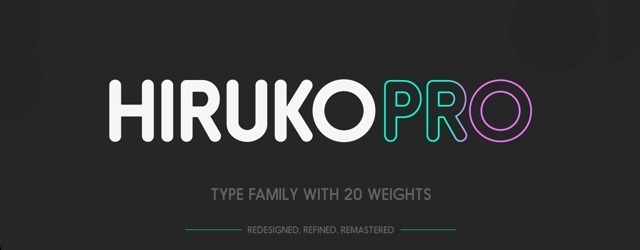 Hiruko Typeface - Web Design Freebies