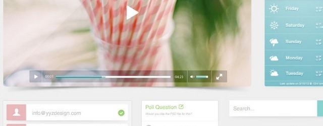 Beach - Pastel Color GUI - Web Design Freebies
