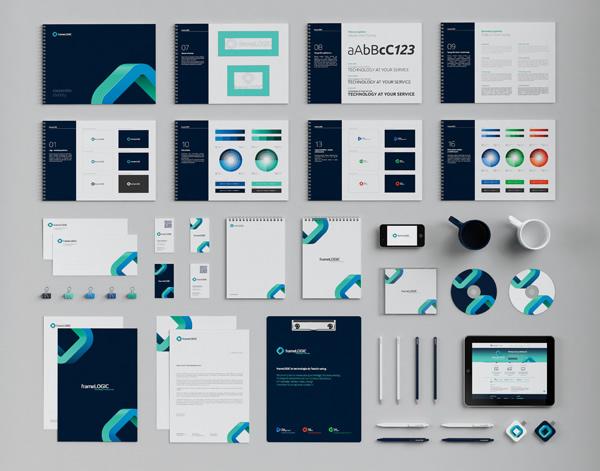 frameLOGIC Rebranding by Necon - Branding Inspiration