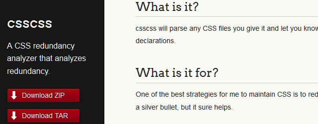 csscss -A CSS Redundancy Analyze