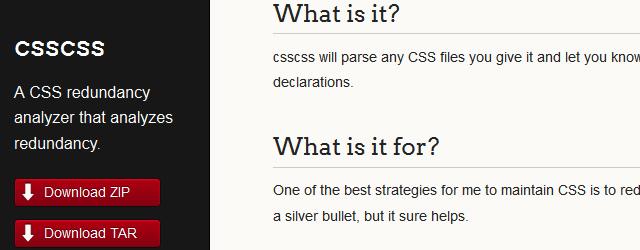 csscss -A CSS Redundancy Analyze