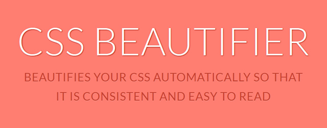 CSS Beautifier - Beautifies Your CSS Automatically