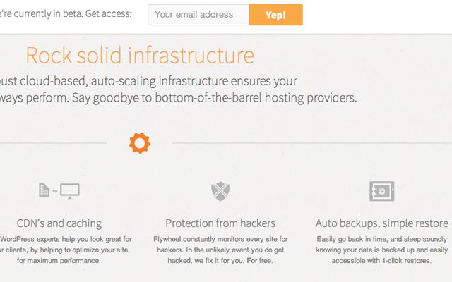 flywheel startup homepage layout website interface design