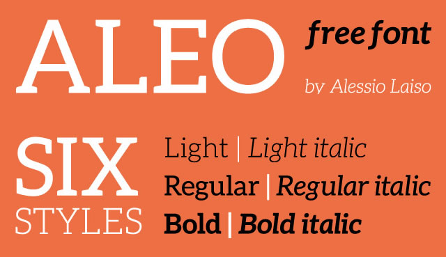 ALEO is a Free Font for Headlines