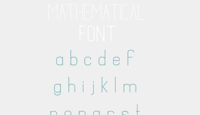 Mathematical is a Free Font for Headlines