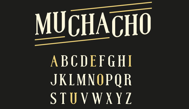Muchacho is a Free Font for Headlines