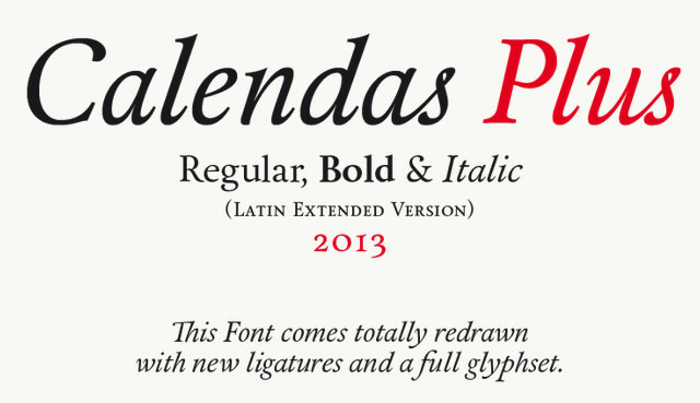 Calendas Plus is a Free Font for Headlines