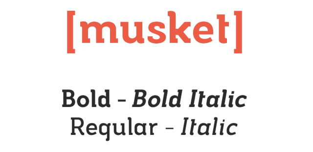 Musket is a Free Font for Headlines