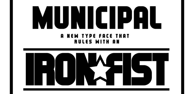 Municipal is a Free Font for Headlines
