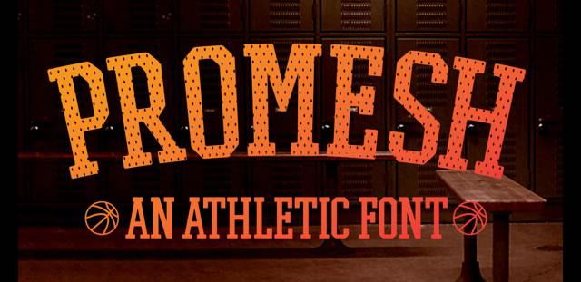 Promesh is a Free Font for Headlines