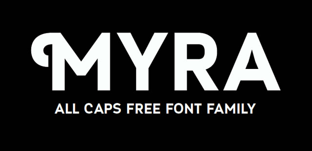 Myra is a Free Font for Headlines