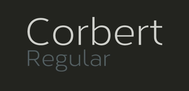 Corbert Regular is a Free Font for Headlines