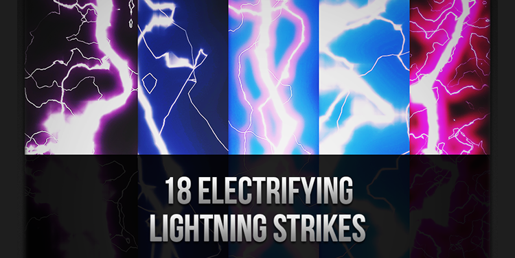Free Photoshop Electrifying Lightning Strikes Brushes there are 18 Brushes in the pack