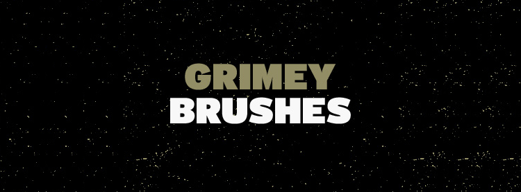 Free Photoshop Grimey Brushes there are 5 Brushes in the pack