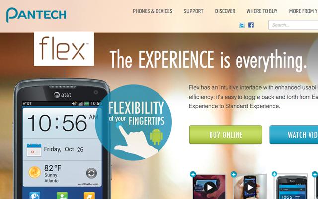 pantech website layout landing page design inspiration
