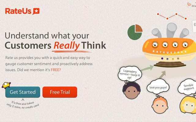 rateus startup homepage layout inspiring webdesign