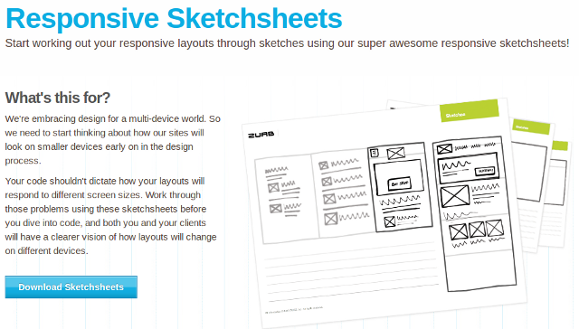 ZURB Sketchsheets for Responsive Web Design