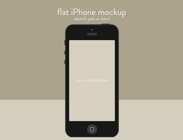 Flat iPhone Mockup Sketch.app Template