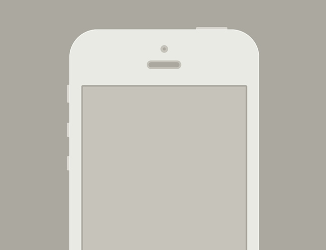 Minimal iPhone Template Sketch.app Template