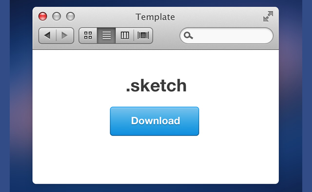 Mini Mountain Lion GUI Sketch.app Template