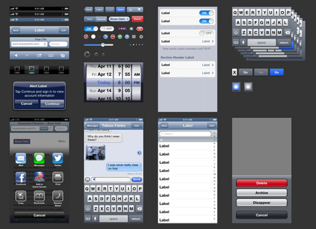 iOS 6 UI Kit Sketch.app Template
