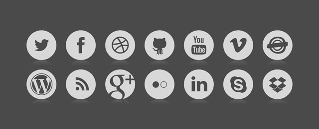 Vector Based Social Icons Sketch.app Template