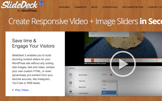 slidedeck website presentation homepage layout products