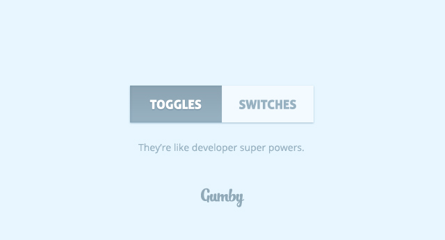 gumby framework css html responsive rwd toggles switches
