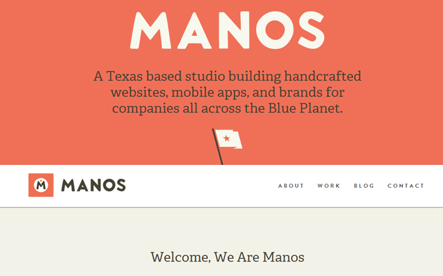 Manos agency website colorful design