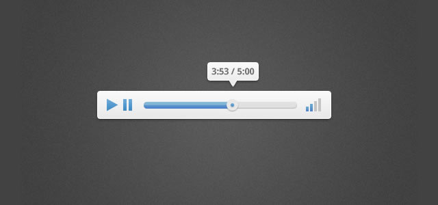 ui tutorials Design a Clean and Elegant Audio Player in Photoshop
