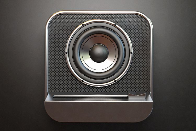audio bass speaker icon ios app design