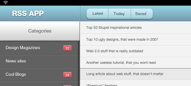 ui tutorials Awesome Interface for iPad App