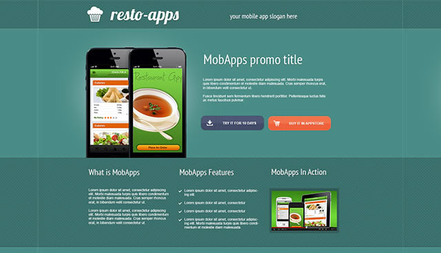 Create Simple and Functional Promotional Mobile Apps Landing Page