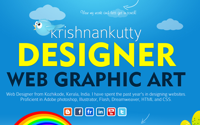 krishnankutty web design portfolio layout