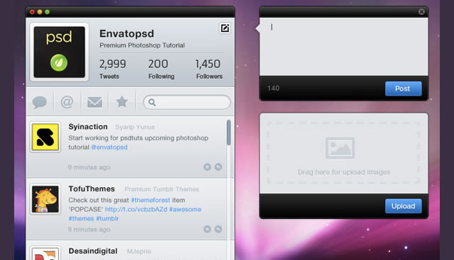 Create a Clean Twitter App Interface in Photoshop