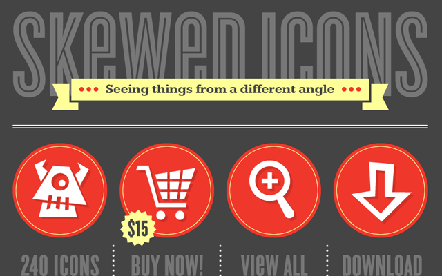 skewed icons website design layout denise chandler