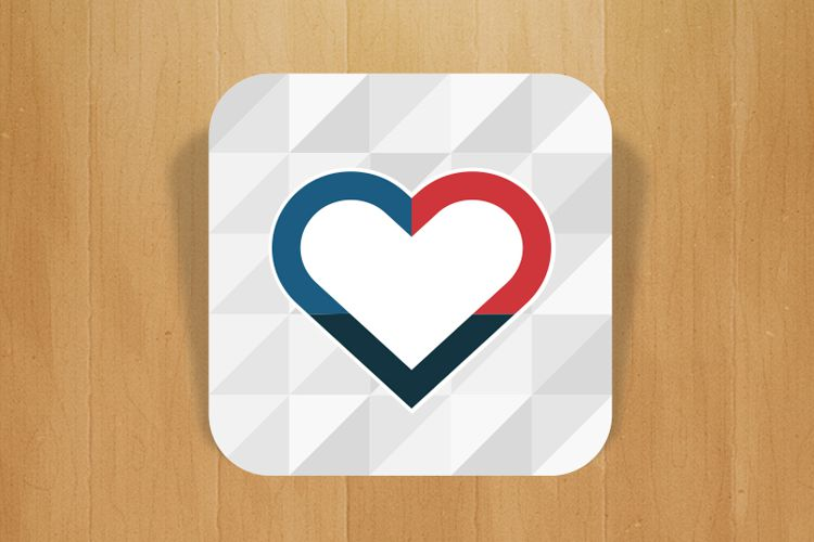 heart app icon trifit mobile design inspiration